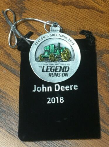 2018 John Deere Pewter Christmas Ornament -- NEW -- 23 In This Series -- RARE -