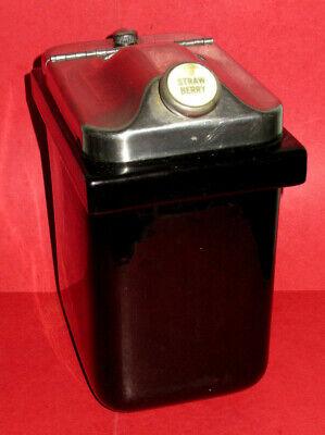 Vintage Hall Toppings Jar Wlid - Black Ceramic-ice Cream Parlor Soda Fountain