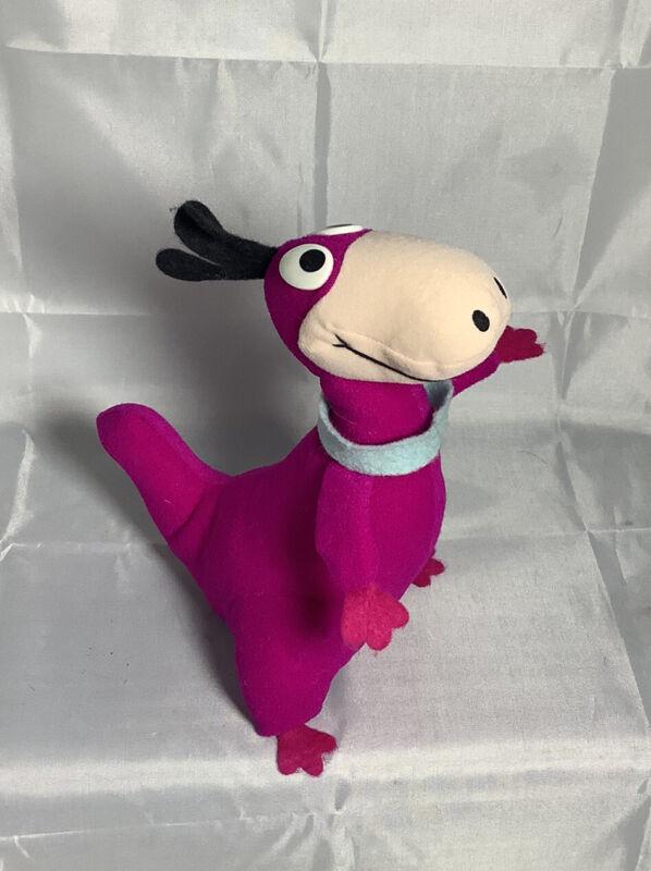 Vintage Hanna Barbera Productions Flintstones Dino Plush Doll Figure, 9.5 Tall