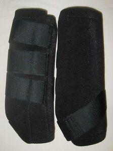 Horse Leg Boots SMB Barrel Racing Wrap Professional Neoprine MEDIUM BLACK