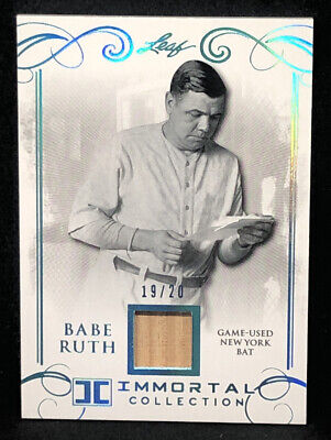 2017 Leaf Babe Ruth #YB-25 Blue New York Bat Card 19/20 NM-MT+