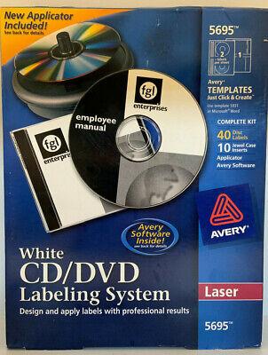 Avery White CD/DVD Labeling System Laser 5695