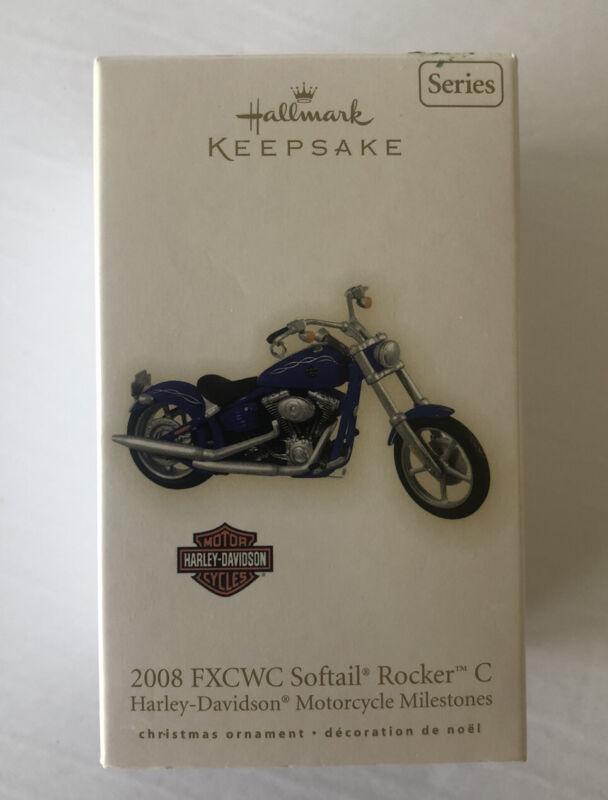 HALLMARK HARLEY-DAVIDSON 2008 FXCWC SOFTAIL ROCKER C MOTORCYCLE ORNAMENT