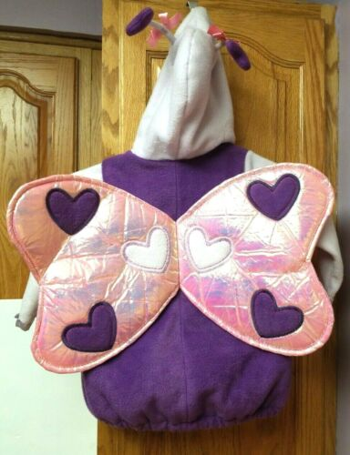 EUC Toddler OLD NAVY HALLOWEEN COSTUME LOVE BUTTERFLY sz 2T/3T Purple/Pink Wings