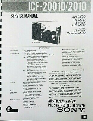 Sony ICF-2001D/2010 PLL Synthesized Receiver SERVICE MANUAL