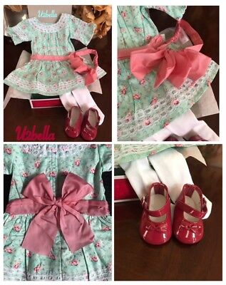American Girl Samantha's Special Day Dress Outfit, Shoes, Stockings New In Box
