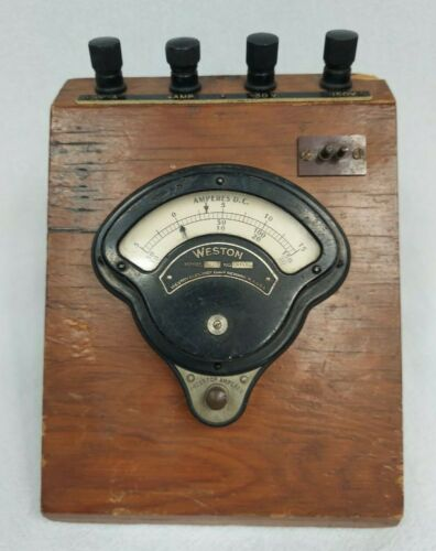 Antique Weston DC Ammeter MODEL 268 Early 1900