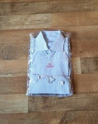 ALESSANDRO GHERARDI men's 15.75 medium striped dress shirt made in Italy
