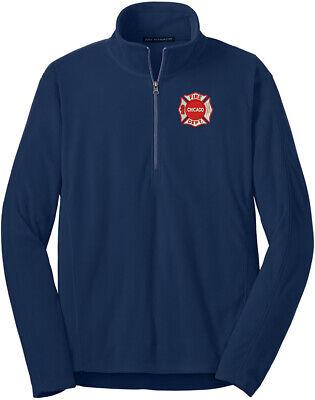 Chicago Fire Department Microfleece 1/2-Zip Pullover Maltese F224 Microfleece 1/2 Zip Pullover