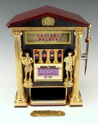 Vintage Franklin Mint Caesars Palace Slot Machine With Original 19x Coins