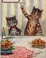 Louis Wain Cat Sleepover Party Painting Albert Hoffman Real Canvas Art Print