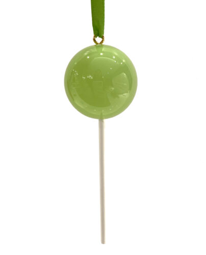 OPAQUE Pale Green Candy Lollipop Christmas Ornament Pick Prop Easter