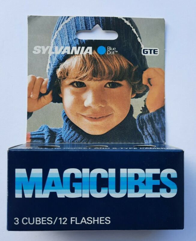 Vtg New old Stock Sylvania Magic Cubes Blue Dot MAGICUBES Pack of 3 UNOPENED A
