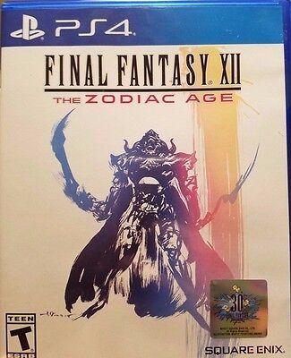 Ps4 Final Fantasy Xii 12 The Zodiac Age New Sealed Region Free Usa Game