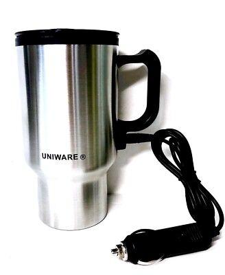 - Heated 12V 16oz Stainless Steel Travel Heating Cup Coffee Tea Auto Car Cup Mug
