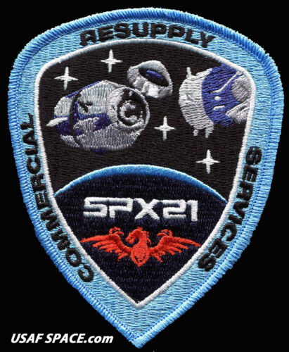 Authentic SPX-21 - SPACEX CRS-21 - NASA COMMERCIAL ISS RESUPPLY AB Emblem PATCH