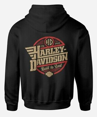 HARLEY DAVIDSON BUILT TO LAST HOODIE - SIZE UP TO 5XL - CAN BE PERSONALISED