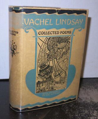 Vachel Lindsay Collected Poems Printed 1925 HB/DJ SIGNED Nice Copy