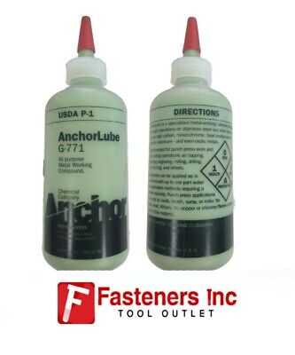 New Anchorlube G-771 8 Oz. Squeeze Bottle Anchor Lube Metalworking Lubricant