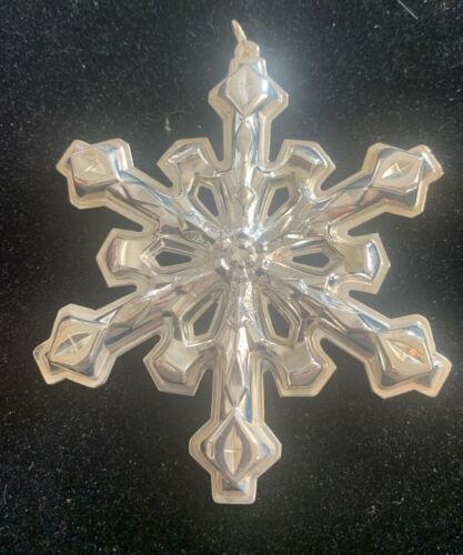 Gorham 1980 Silver Snowflake Christmas Ornament w/ Box