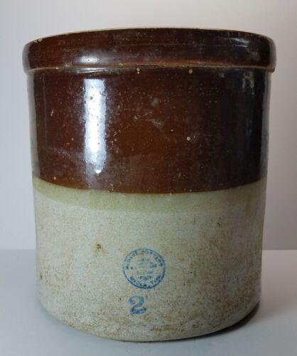 Antique 2 Gallon McDade Pottery Stoneware Crock Layered Glaze ☆ Texas ☆ 10 LBS