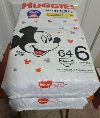 Huggies Snug & Dry Diapers, Size 6 (35+ lb.), 128 Ct damaged box