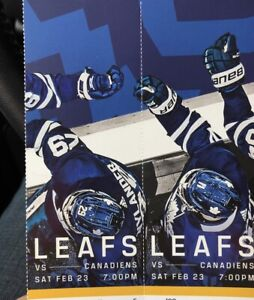 LEAFS VS HABS GOLDS 2 tickets section 102 AWESOME SEATS