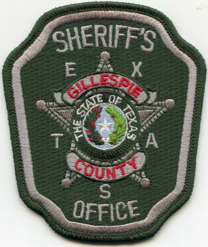 GILLESPIE COUNTY TEXAS TX SHERIFF POLICE PATCH