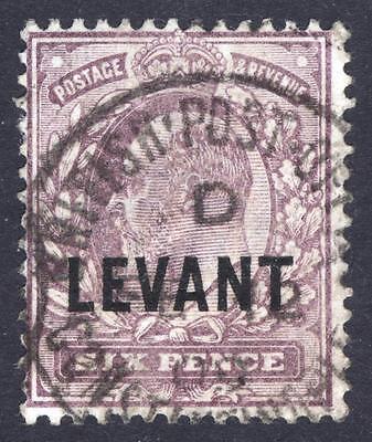 British Levant-Turkey 1905 6d Slate Purple SG L9 Scott 23 VFU Cat £25($32)