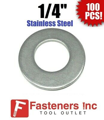 100 14 Stainless Steel Flat Washers 18-8 Stainless 58 Od .037 Thick