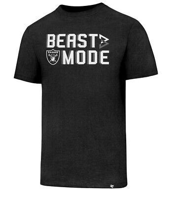 Raiders 47 Brand Beastmode Club Tee Oakland Football Beast Shirt New Sports (8B) ()