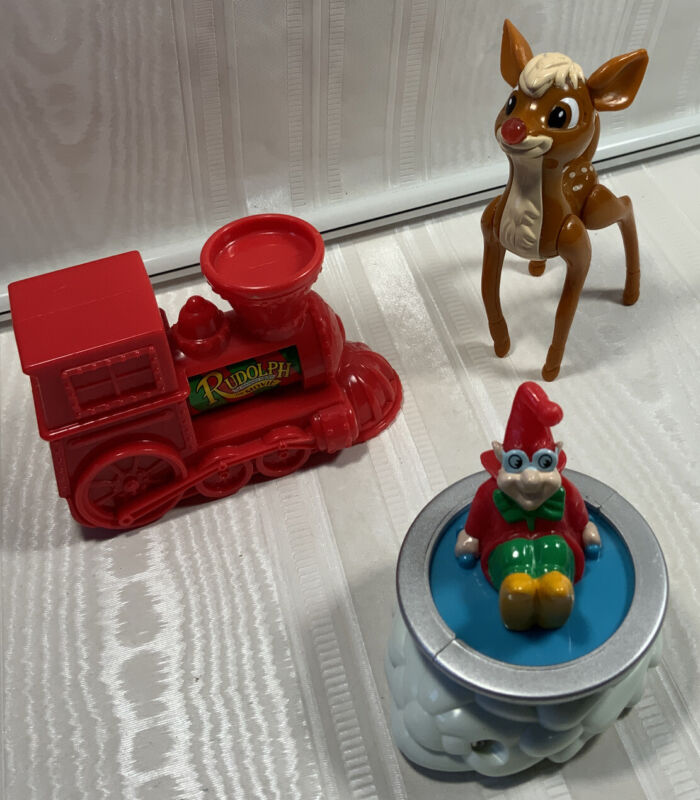 Rudolph The Red-Nosed Reindeer The Movie 1998 Wendy's Lot Of 3