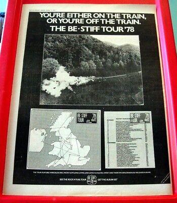 Be Stiff UK Tour/Wreckless Eric Vintage ORIG 1978 Press/Mag ADVERT Poster-Size