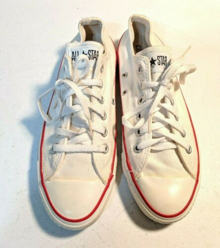 VTG Converse All Star Low Unbleached White Sneaker Size 6 Made in USA