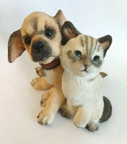 COUNTRY ARTISTS #02223 Kitten with Puppy Figurine