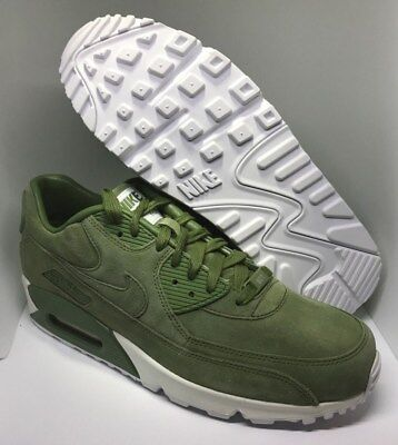 sale retailer 8763a c5296 Nike iD Air max 90 Premium Men s Running Shoes Size 9.5 Green White  Suede