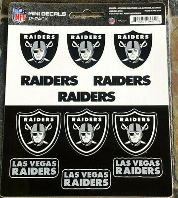 Las Vegas Raiders - 12 Pack of Mini Decals - High Quality Licensed Stickers