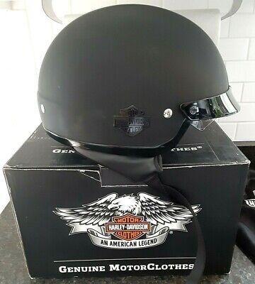 Genuine Harley Davidson Half Helmet 98224-11VM/002S  X-SMALL MATTE BLACK W/ BOX