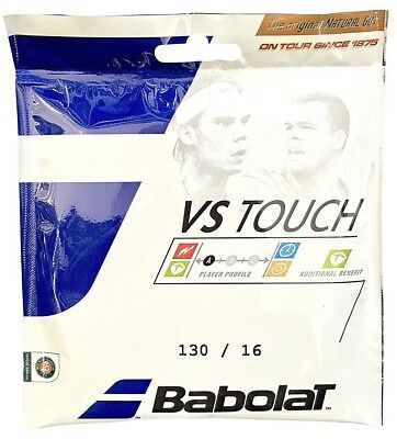 Babolat VS Touch Natural Gut 1/2 Set 16 String (Free Express - Babolat Natural