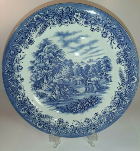 """CURRIER & IVES """"HARVEST"""" HERITAGE MINT 10 IN PLATE CHURCHILL MADE IN ENGLAND XX"""