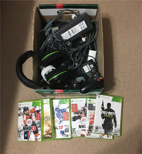 Xbox 360, controllers, games