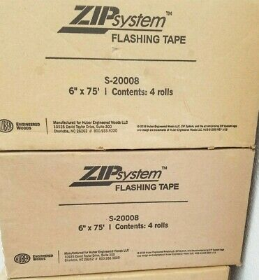 4 Rolls Of Huber Zip System Flashing Tape 6 X 75 Self-adhesive