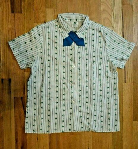 Vintage Girl Scouts Youth 0-226-C Short Sleeve Shirt & Blue Tie, Size 14-1/2