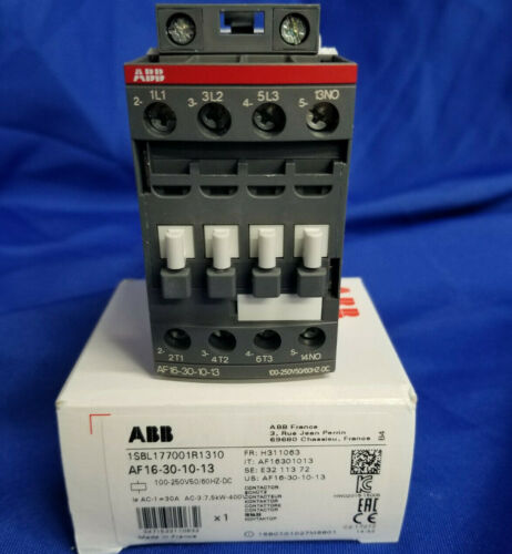 ABB AF16-30-10-13 3p 16a 100-250v Contactor NEW IN BOX