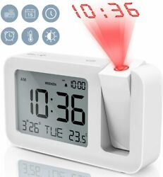 TedGem Digital Projection Dual 3.8 LED Large Number Clock 4 Brightness M29^
