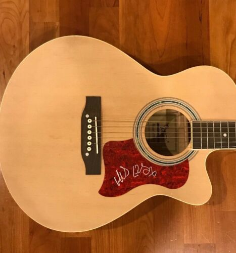 * MAX COLLINS * signed autographed acoustic guitar * EVE 6 BAND * 2