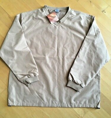 hpi signature mens outdoor water resistant wind shirt windbreaker khaki XL new