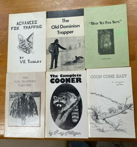 Lot of Six Trapping Books Lot - Raccoon Trapping, Fox Trapping
