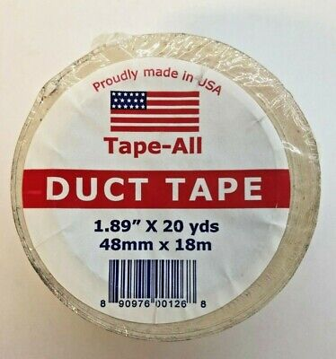 Tape-all Duct Tape White 1.89 X 20 Yds