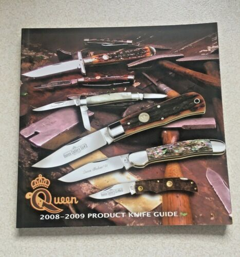 2008-2009 QUEEN PRODUCT KNIFE GUIDE~90 pages~NOS~Queen Cutlery